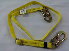 ARBORIST WEB LANYARD 4-6FT ADJUSTABLE TREE CLIMBERS SAFETY STRAP AGAGPWL16A