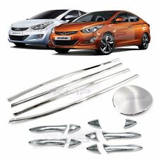 Chrome Window Accent Door Catch Molding Fuel Cover 15P For HYUNDAI 11-16 Elantra