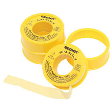 2x Bromic YELLOW TEFLON TAPE 12mmx10m Suitable For Natural Gas & LPG *Aust Brand