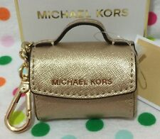 NEW MICHAEL KORS AVA KEY FOB BAG CHARM COIN PURSE KEY CHAIN PALE GOLD $58.00