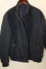 PAUL & SHARK Quilted Jacket Leather Trim Size XL   RETAIL $750