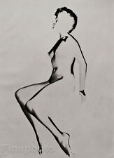 1950s Vintage Print SURREAL FEMALE NUDE Solarized Photography Art ~ ZOLTAN GLASS