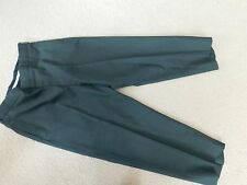 ARMY MENS GREEN POLYWOOL SERGE DRESS PANTS SIZE 35S x 26.5""