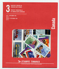 Weeda Canada 1994 Jul-Sep Quarterly Pack, sealed! Face value $8.87, pristine