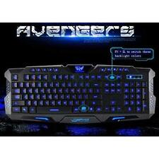 Illuminated LED Backlight USB Wired Multimedia PC Gaming Crack Keyboard US Nice