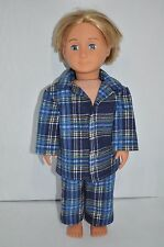 "American Girl Doll Our Generation Journey Girl 18"" Boy Dolls Clothes Check Pj's"