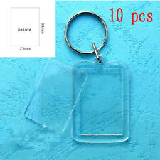 10pcs Custom Personalised Insert Photo Acrylic Blank Key Keyring Keychain Sale