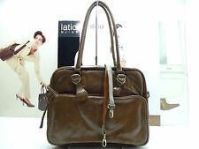 NWT Latico Satchel Bag Mocha Leather W/Antique Hardware $ 155.00