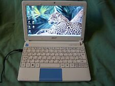 BLUE ACER Aspire One HAPPY2 NETBOOK Intel Atom N450 2 GB di RAM 250 GB HDD WIN 7