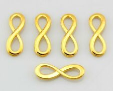 50pcs Gold Plated Tone 8 Infinity Sign Necklace Pendants Charms Y37