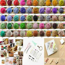 50COLOR Wool Fibre Needle Felting + Felting Starter Needles Kits Mat Tools