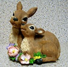 BEAUTIFUL MOTHER AND BABY DEER  MUSICAL FIGURINE PLAYS MEMORY (FROM CATS)