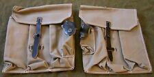 WWII GERMAN MKB42 H EARLY MP44 STG44 MG AMMO POUCHS-GREY CANVAS