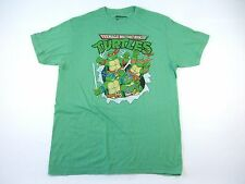 TEENAGE MUTANT NINJA TURTLES CARTOON VINTAGE GREEN LARGE TSHIRT NWT