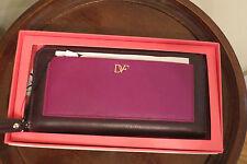 """Diane von Furstenberg """"Voyage"""" Leather Zip-Around Wallet – Purple - NIB - $175"""