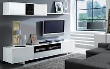 Bambi TV Unit Living Room Furniture Set Modular Media Wall White Gloss Melamine