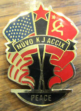 Nuvo K J Accix Peace United States Flag 2 Flags Of Nations Countries Lapel Pin