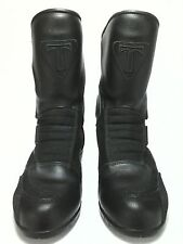 Triumph Womens Black Motorcycle Riding Biker Boots EU 40 US 9.5 Made in Italy