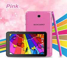 "KOCASO 7"" inch Android 4.4 Tablet PC Quad Core 1.3GHz 8GB Dual Camera Pink"