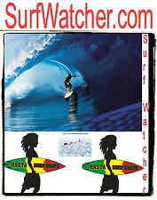 Surf Watcher .com Surfing Charts California Sydney Ocean Cycle Wet Suit Waves