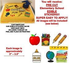 Elementary School Edible Cake Stickers Edible School Clipart Cutouts Decoration