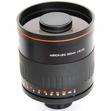 900mm f/8 HD Manual Focus Telephoto Mirror Lens With T mount For Nikon Cameras