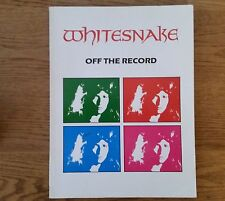WHITESNAKE OFF THE RECORD GUITAR TAB SONGBOOK TABLATURE BAND SCORE