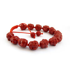 Red Colophony Buddha Head Tibet Buddhist Prayer Beads Mala Bracelet