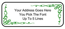 60 Custom Personalized Irish Vine Knot Shamrock Return Address Mailing Labels