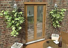 OAK FRENCH DOORS - 4ft 1200mm 44mm - 1.6 UVALUE - SUPPLIED UNFINISHED