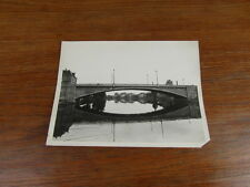 ORIGINAL PHOTO VINTAGE LE PONT D ESSEY LES NANCY vers 1948 (23 x 18)