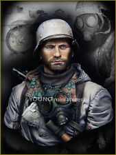 Young Miniatures German Motorcyclist Eastern Front 1/10th WW2 Resin Bust kit