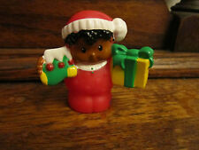 Fisher Price Little People Visit From Santa Boy AA Michael Present Christmas PJ