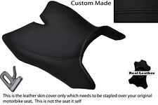 BLACK STITCH CUSTOM FITS MOTOHISPANIA RX 125 R 09-14 FRONT LEATHER SEAT COVER