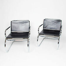 RARE MR50 Knoll International Mies Van Der Rohe MR Lounge Chairs Mid Century