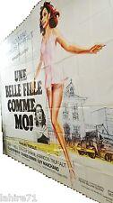francois truffaut UNE BELLE FILLE COMME MOI !  affiche cinema geante 4x3m 1976