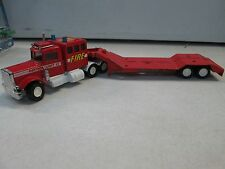 1978 Matchbox Super Kings Peterbilt lowboy tractor trailer