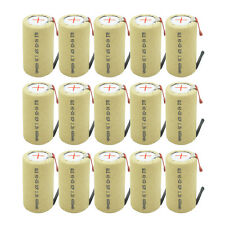 15x Sub C SC With Tab Ni-CD 4000mAh 1.2V Rechargeable Battery For Power Tool USA