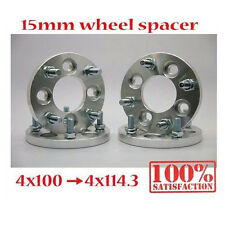 (4) 15mm   4x100 to 4x114.3   Wheel Spacers   Adapters   Billet   12x1.5 Spacer