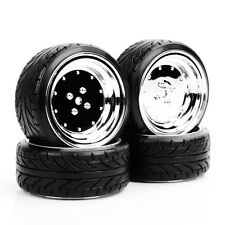 4PCS Tires & Wheel Rims For 1/10 Scale HPI HSP Drift RC Car PP0292+PP0107