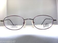 LOGO LM2406 100% TITANIUM EYEGLASS FRAME IN BURGUNDY/GREY 47-20