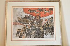 Theo Tobiasse Limited Edition Lithograph Signed and Numbered Jacob Et Sa Famille