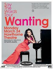 "WANTING QU ""SAY THE WORDS TOUR"" 2014 PORTLAND CONCERT POSTER - Cantopop Music"