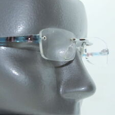 Frameless Aqua Electro Tech Low Profile Big City Reading Glasses +1.75