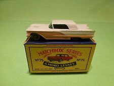 LESNEY MOKO MATCHBOX 75  FORD THUNDERBIRD RARE COLOR  - NMIB - HIGH QUALILITY