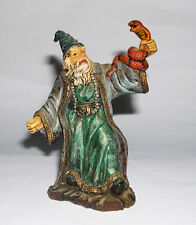 Tudor Rose D.H Miniatures - Figurine of a Standing Wizard Holding A Snake.