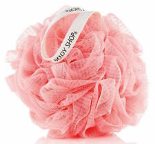 The Body Shop PINK Bath Shower Lily Body Polisher Wash Scrunchie Puff Sponge NEW
