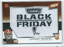 2014 Panini Black Friday Johnny Manziel Commemorative Patch Relic RC BROWNS