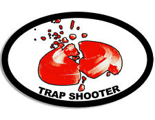 3x5 inch OVAL Trap Shooter Sticker - decal gun rifle shooting range clay pigeon