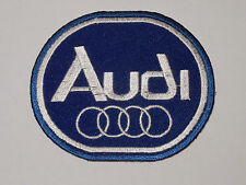 MOTORSPORTS MOTOR RACING SEW ON / IRON ON PATCH:- AUDI (a) BLUE OVAL RINGS
